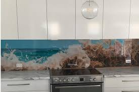 Innovative Splashbacks Custom Printed Seafoam Splashback