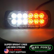 100 Strobe Light For Trucks SLX12STROBE MINI STROBE FLASHING 12 CREE LED SLIM LIGHT TRUCK