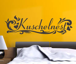 wandtattoo kuschelnest wandspruch spruch aufkleber schlafzimmer wohnzimmer 1d161 wandtattoos und leinwandbilder günstig mydruck store