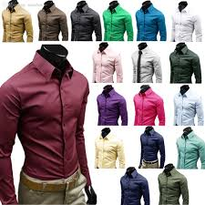 best wholesale men shirt long sleeve candy color business dress