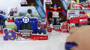 100 Rescue Bots Fire Truck NEW TRANSFORMERS RESCUE BOTS GRIFFIN ROCK POLICE STATION AND CHASE
