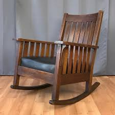 L. And J.G. Stickley Arts And Crafts Oak And Leather Rocker ... L Jg Stickley Signed Arts Crafts Mission Oak 1905 Antique Stickley Rocking Chair Betnose Superb Arm Rocking Chair Fniture Ruby Lane Amazoncom Ljg Spindled Set Of 4 Jg Ding Chairs W4215 Ljg Armchair Rocker 827 Voorhees Craftsman Replica Slatted J G Morris 31272ec Stickley Bow Leather Fniture Jg Craft Leather