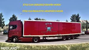 100 Euro Truck Sim Mods CLM Graphics And Redux Graphics 133x Mod For ETS 2