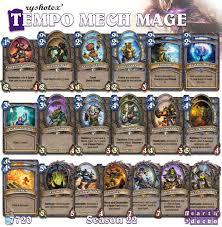 hearthstone deck list mech mage 58 best hearthstone mage decks images on decks