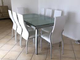 8 Seater White Dinning Table
