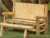 Downloadable Log Furniture Plans