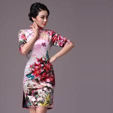 shop elegant silk cheongsam traditional chinese red bridal