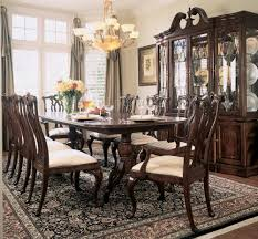 Baker Breakfront China Cabinet by American Drew Cherry Grove Breakfront China Cabinet In Antique