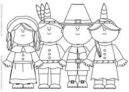 Thanksgiving Family Coloring Page