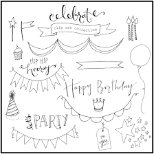 free hand drawn clip art and how to use it Free BirthdayHappy