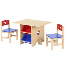Details About Child Nursery Wooden Play Table & Chairs Set Kids Play  Activity Toy Furniture
