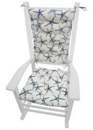 Sea Shore Starfish Navy Blue Porch Rocker Cushion Set - Mildew ... Shop Grey Cream Indoor Outdoor Corded Chair Cushion Set On Sale Free 20 Fresh Scheme For Rocking Sets Table Design Black Serendipitaliainfo Rocking Chair Cushion Set Apayislethalorg Fniture Add Comfort And Style To Your Favorite With Perfect Inspiration About Senja Antique Sunbrella Or Cushions Canvas Macaw 2 Pc Foam Etsy Amazoncom Klear Vu Inoutdoor Pad 205 X 19 Replacement Rocker Solid Fabric