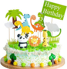 joyoldelf cake toppers zoo dschungel themed tier tortendeko