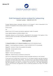 Draft Service Contract For Outsourcing