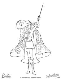 Barbie And Three Musketeers Coloring Page201
