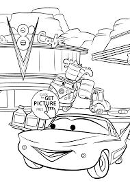 Free Disney Cars Cartoon Coloring Books Printable For Kids