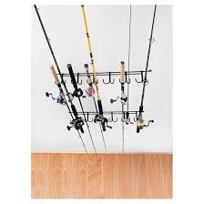 rack em 7009 overhead 12 pole fishing rod rack 229611 fishing