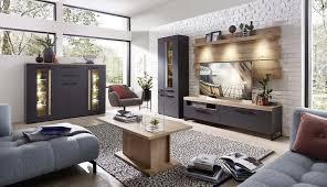 loft two wohnzimmerkomplettset 2 inkl led beleuchtung graphit abs artisan eiche günstig möbel küchen büromöbel kaufen froschkönig24