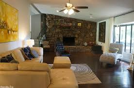 Rustic Family Room With Stone Fireplace High Ceiling IKEA EIVOR CIRKEL Rug