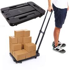 Anfan Folding Luggage Cart Portable Personal Moving Hand Truck 6 ... Folding Airport Luggage Hand Caportable Steel Foldable Happydeal Hd6711 Black Alinum Portable Cart Trolleys Officeworks Truck Carts Dolly Heavy Duty Wwhosale New Folding Hand Truck Cart Mini Seville Classics 150 Lbs Utility List Manufacturers Of 99 Trolley Buy Get Discount On The 10 Best Portable Trucks For Your Daily Needs Reviews Small Trucks Archives Behostinggcom