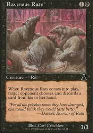 mono black rat tribal legacy mtg deck