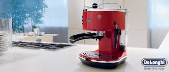 Deep Espresso With Classic And Elegant Design Created By Italys Commitment To A Heavy Steel Finish Delonghi Makers Deliver Highly