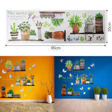 100 Www.homedecoration DIY Garden Plant Pattern Wall Sticker Home Decoration For Bedroom Living Room Butterfly Wall Stickers Wall Vinyl Mural Decal Removable Wall Stickers