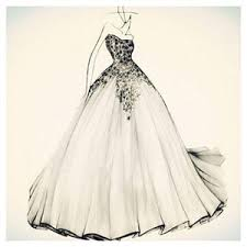 Wedding Dress Design Drawings Ideas