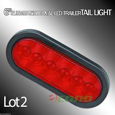 2 Trailer Truck Lights LED RED Signal 6