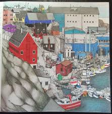 Fantastic Cities Pg3 Ilulissat Qaasuitsup Greenland Stevemcdonald Fantasticcities Coloring BooksColouringVintage