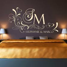 home décor items wandtattoo initialen für paarewunsch namen