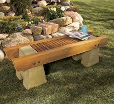 concrete and wood garden bench here are complete plans to build