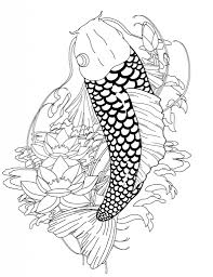 Koi Fish Coloring Pages Az For Intended To Inspire In