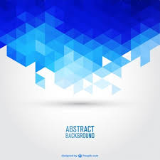 Blue Geometric Vector Background