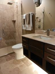 Bathroom Vanity Decorating Ideas Pinterest by Floating Vanity With Under Cabinet Lighting For A Modern Bathroom