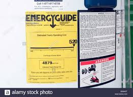 Energyguide Label On Hot Water Heater North American Style