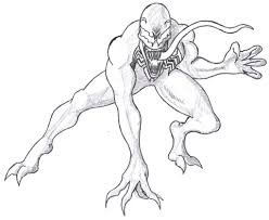 To Print Venom Coloring Pages 59 For Kids With
