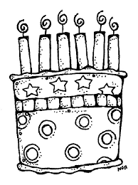 black and white birthday clipart