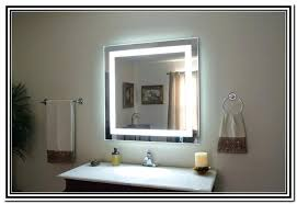 wall mirrors lighted makeup mirror wall mount in lighted