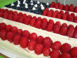 Rozlynn Bakes Celebrating the 4th with a Flag Cake