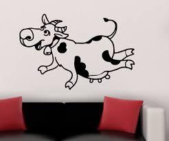 wandtattoo kuh lustig bauernhof sticker tier tür auto aufkleber wohnzimmer schlafzimmer kinderzimmer 1b226 wandtattoos und leinwandbilder