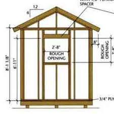 8 x 12 wood shed plans free plans diy free download simple wooden