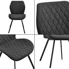 2x stühle in verschiedenen farben gepolstert mit textilbezug esszimmer stuhl polsterstuhl lounge set grau en casa
