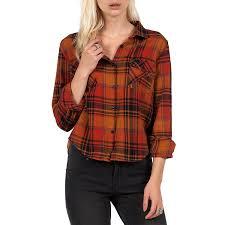 volcom desert coast long sleeve button down shirt women u0027s evo