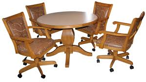 Swivel Dining Room Chairs With Casters Kitchen Table And Bench Style