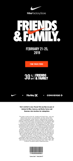 Nike Factory Stores 30% Off Friends & Family - Slickdeals.net