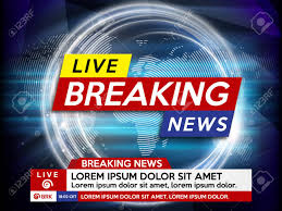 Background Screen Saver On Breaking News Live World Map Stock
