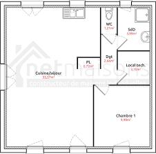 plan maison plain pied 2 chambres mod le et plans maeva 7 4 ch du constructeur maisons sic avec plan