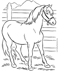 Coloring Book Pages Of Horses