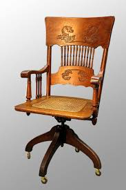 Antique Victorian Oak Press-back Lawyers/Bankers Swivel ...